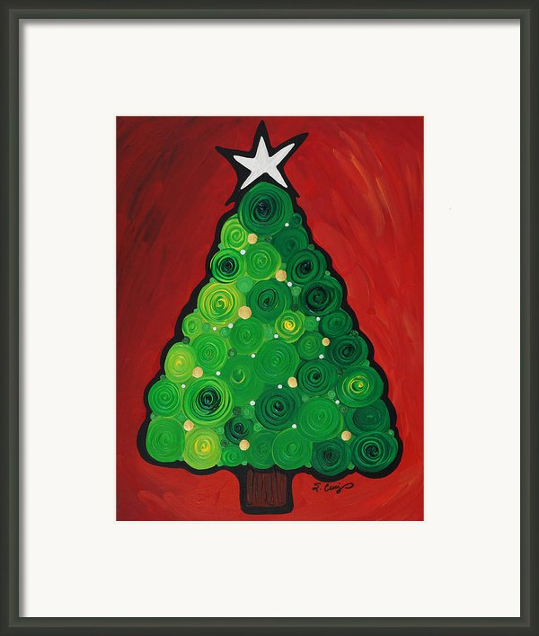 Christmas Tree Twinkle Framed Print By Sharon Cummings