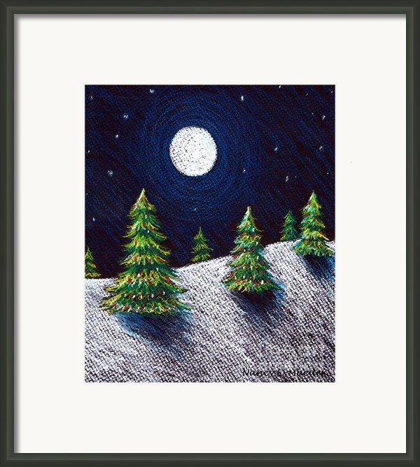 Christmas Trees Ii Framed Print By Nancy Mueller