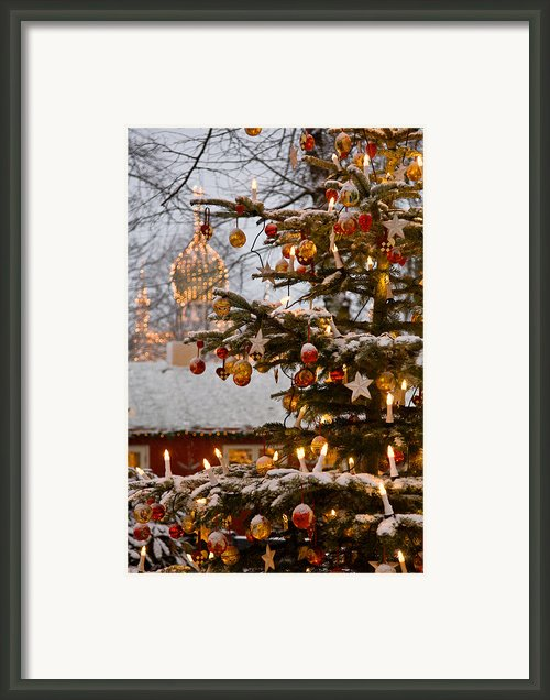 Christmastime At Tivoli Gardens Framed Print By Keenpress