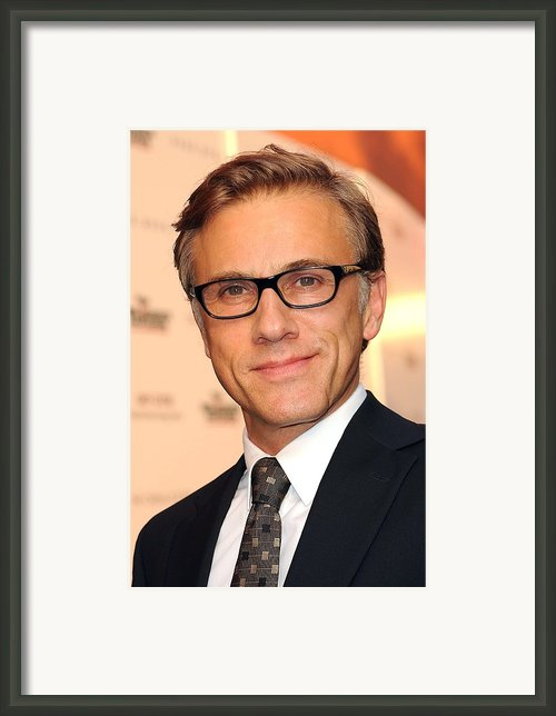 Christoph Waltz At Arrivals Framed Print By Everett