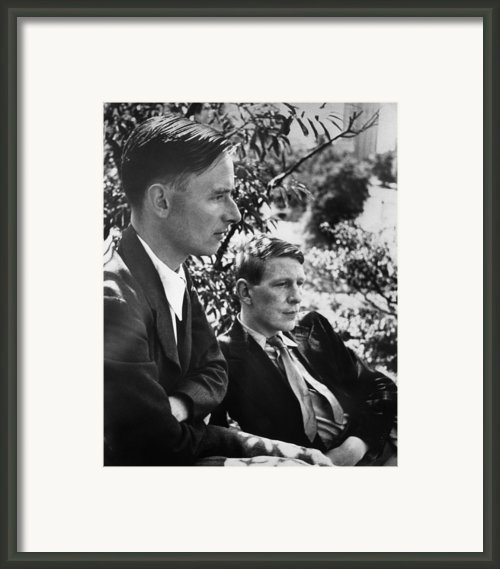 Christopher Isherwood, Novelist Framed Print By Everett
