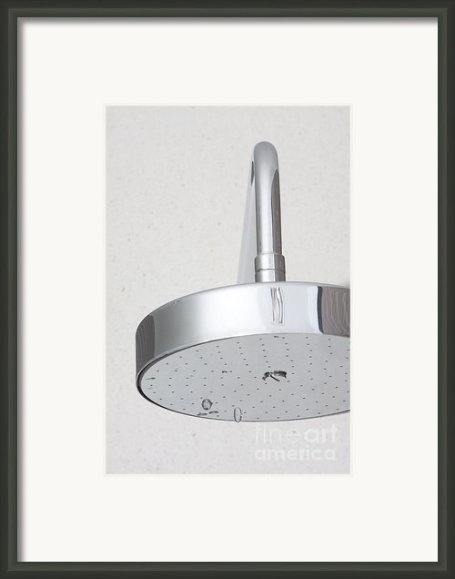 Chrome Shower Head Framed Print By Atiketta Sangasaeng