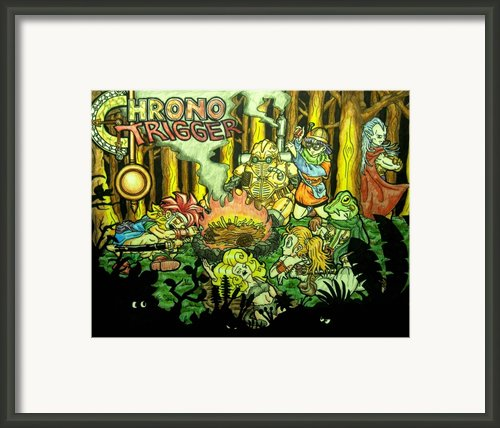 Chrono Trigger Campfire Framed Print By Paul Tokach