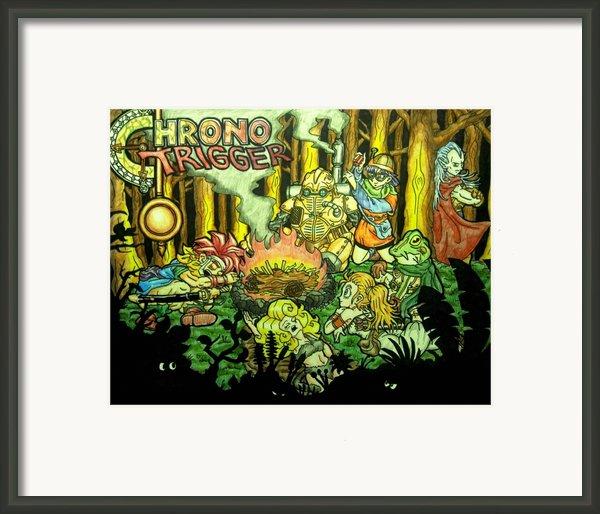 Chrono Trigger Campfire Framed Print By Paul Tokach