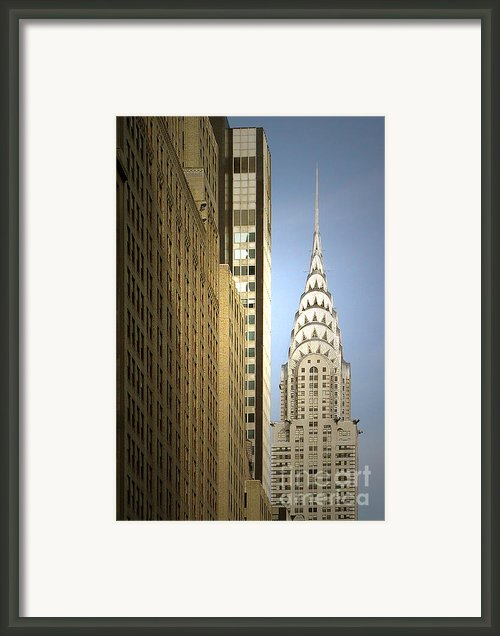 Chrysler Building Nyc - Streamlined Majesty Framed Print By Christine Till