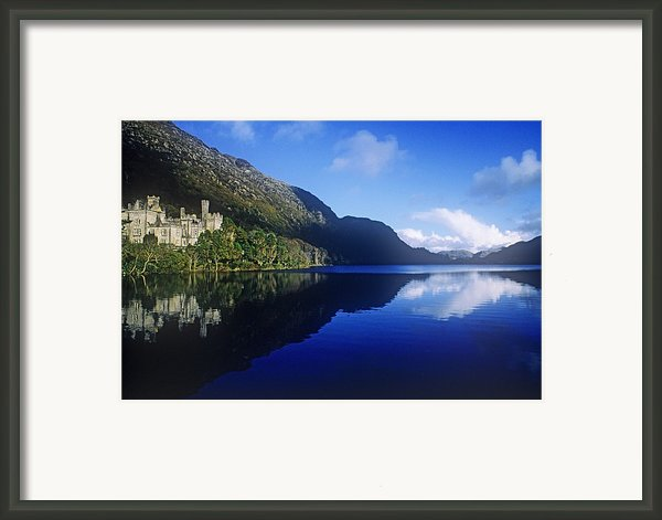 Church At The Waterfront, Kylemore Framed Print By The Irish Image Collection