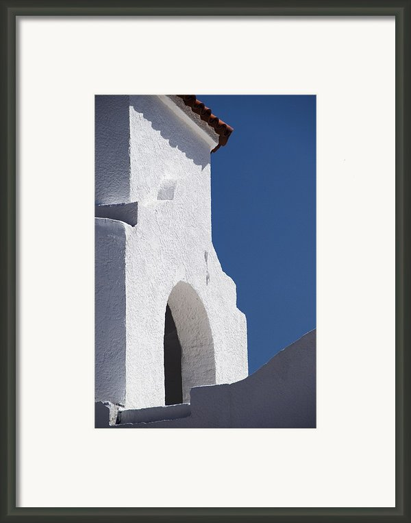 Church Bell Tower Chacras De Coria Framed Print By Philippe Widling