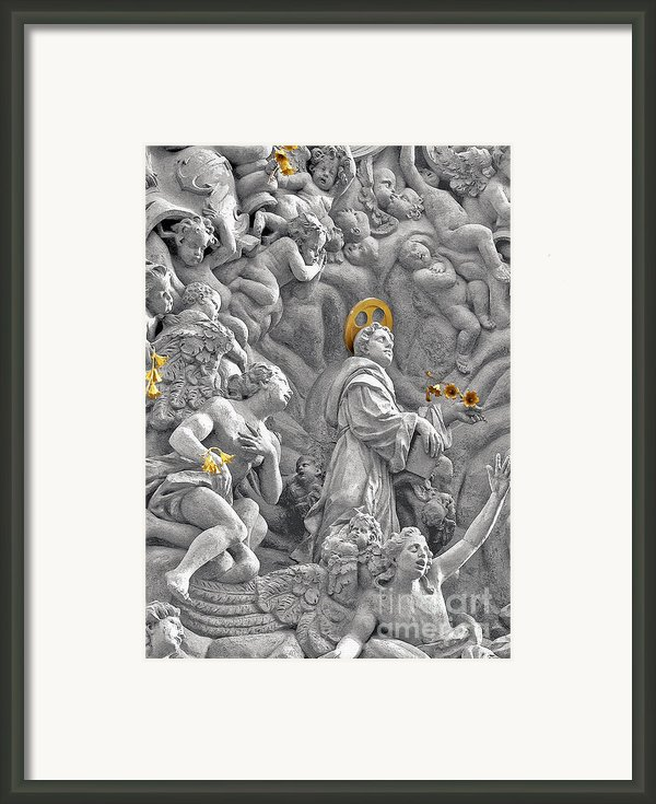 Church Of St James The Greater Prague - Stucco Bas-relief Framed Print By Christine Till