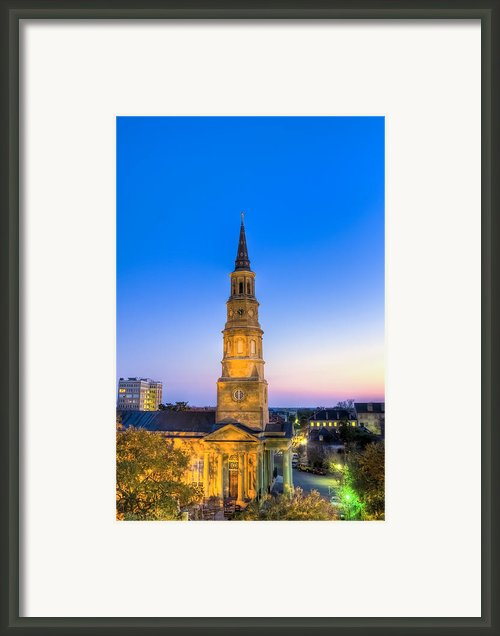 Church St. Dusk  Framed Print By Drew Castelhano