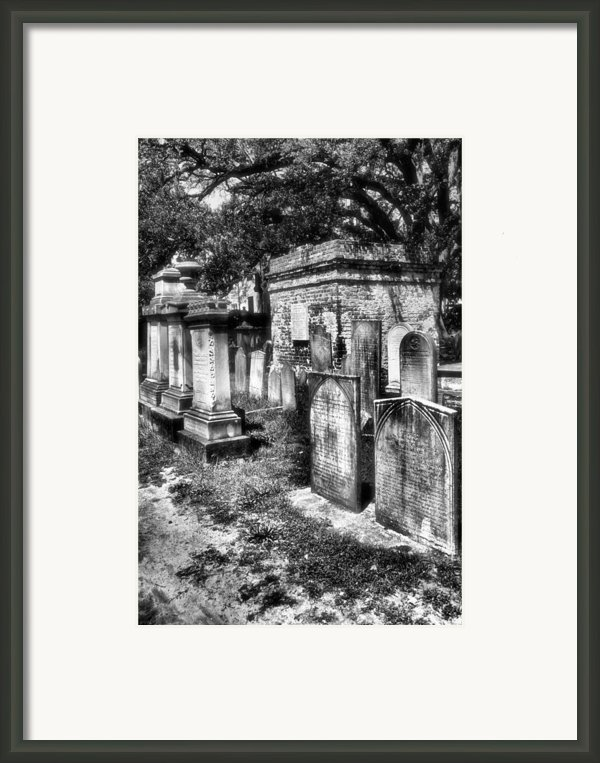 Churchyard Of Old Charleston Framed Print By Steven Ainsworth