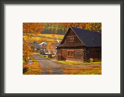 Cicmany -old Village  In Slovakia Framed Print By Renata Vogl