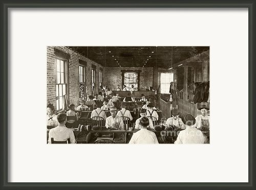 Cigar Factory, 1909 Framed Print By Granger