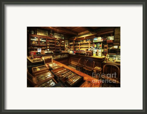 Cigar Shop Framed Print By Yhun Suarez