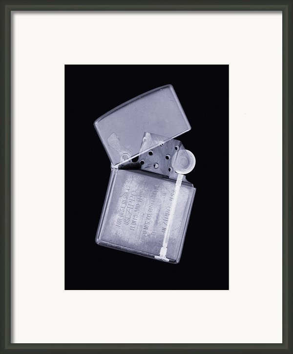 Cigarette Lighter, Simulated X-ray Framed Print By Mark Sykes