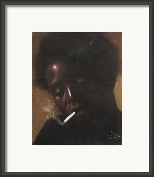 Cigarette Smoker Framed Print By L Cooper