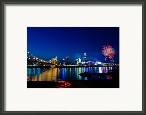 Cincinnati Boom Framed Print By Keith Allen