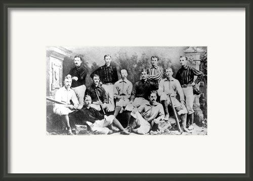Cincinnati Reds, Baseball Team, 1882 Framed Print By Everett
