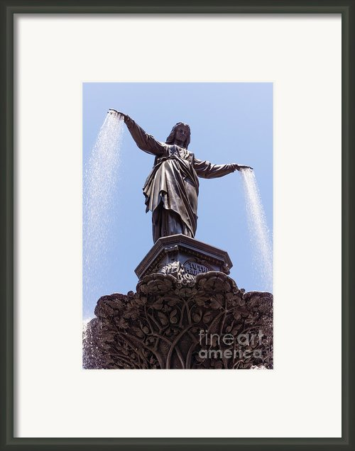 Cincinnati Tyler Davidson Fountain Genius Of Water  Framed Print By Paul Velgos