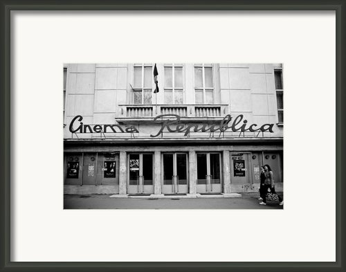 Cinema Republica Framed Print By Gabriela Insuratelu