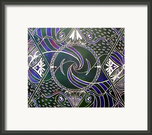 Circle Print Framed Print By Samar Asamoah