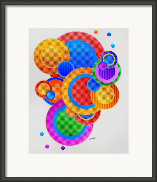 Circles Framed Print By Anthony Caruso
