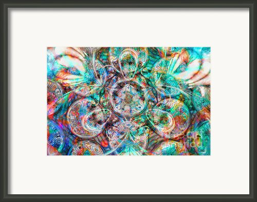Circles Of Life Framed Print By Mo T