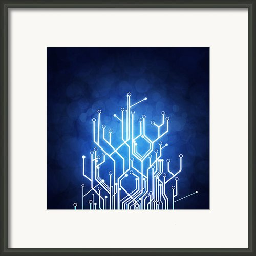 Circuit Board Technology Framed Print By Setsiri Silapasuwanchai