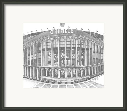 Citi Field Framed Print By Juliana Dube