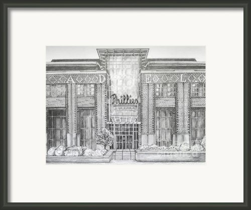 Citizens Bank Park Framed Print By Juliana Dube