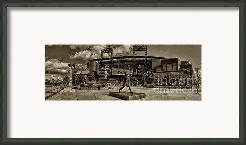 Citizens Park Panoramic Framed Print By Jack Paolini