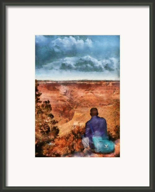City - Arizona - Grand Canyon - The Vista Framed Print By Mike Savad