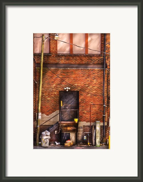 City - Door - The Back Door  Framed Print By Mike Savad