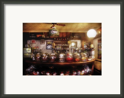 City - Ny 77 Water Street - The Candy Store Framed Print By Mike Savad