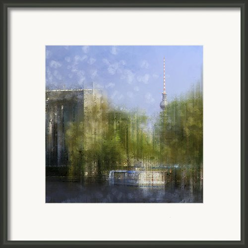 City-art Berlin River Spree Framed Print By Melanie Viola