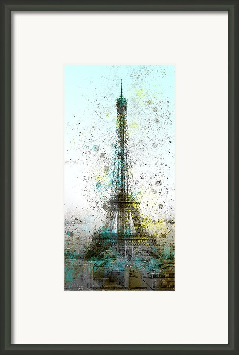 City-art Paris Eiffel Tower Ii Framed Print By Melanie Viola