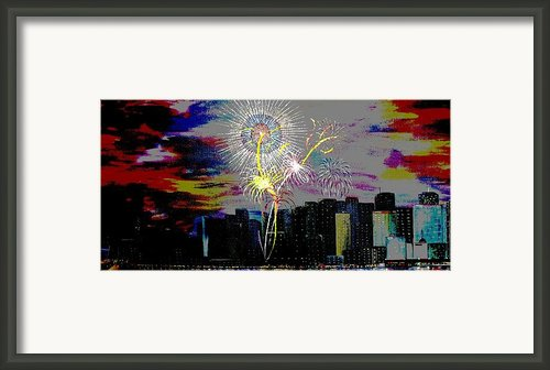 City Celebration Digital Framed Print By Mark Moore