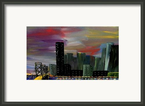 City Celebration  Framed Print By Mark Moore