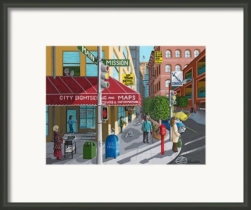 City Corner Framed Print By Katherine Young-beck