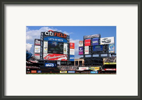 City Field Framed Print By Suhas Tavkar