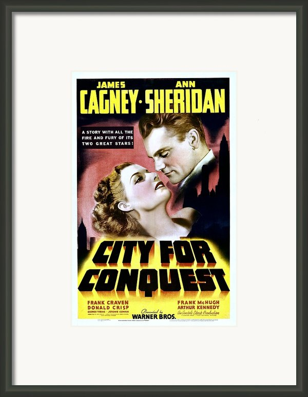 City For Conquest, Ann Sheridan, James Framed Print By Everett