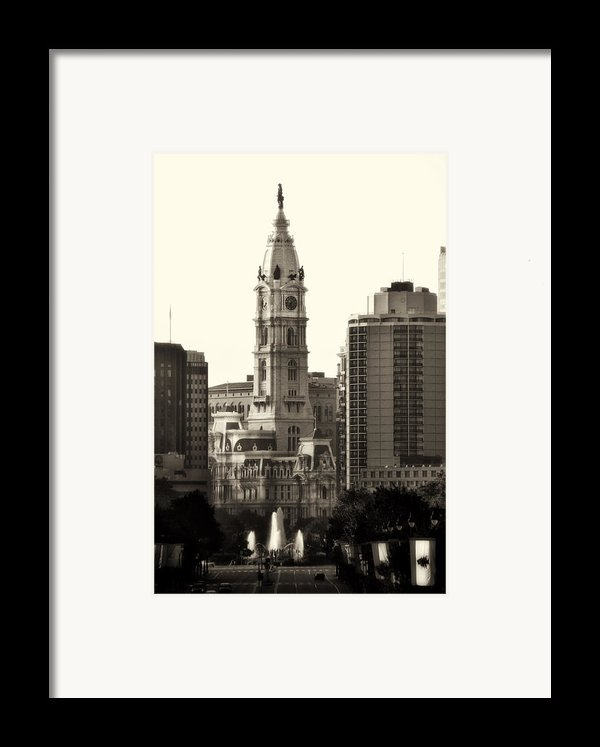 City Hall From The Parkway - Philadelphia Framed Print By Bill Cannon