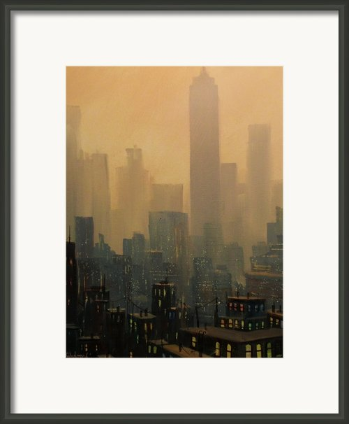 City Haze Framed Print By Tom Shropshire