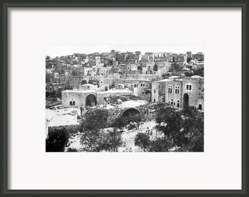 City Of David Bethlehem Framed Print By Munir Alawi