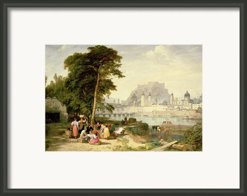 City Of Salzburg Framed Print By Philip Hutchins Rogers