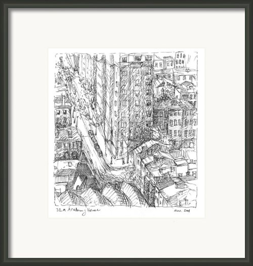 City Scape Framed Print By Elizabeth Carrozza