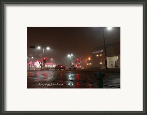 City Scapes Fog  Framed Print By Joshua Fronczak