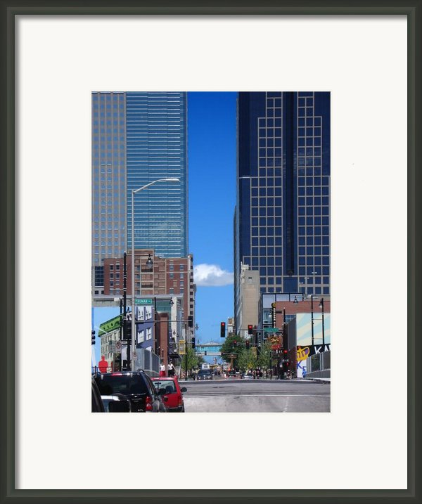 City Street Canyon Framed Print By Steve Karol