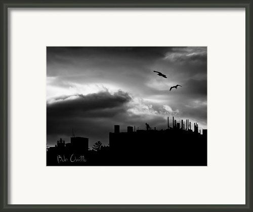 City Sunset Framed Print By Bob Orsillo