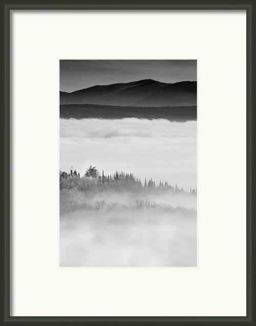 City Under The Clouds Framed Print By Radu Aldea