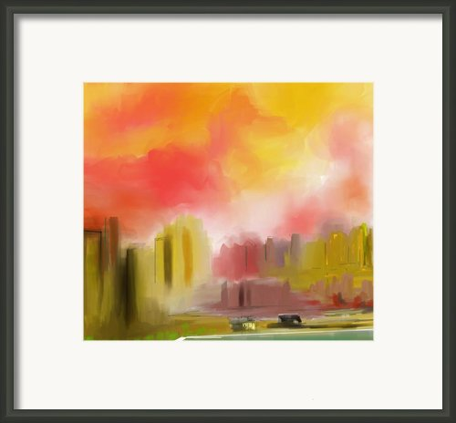 Cityscape Framed Print By David Lane
